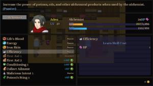 Alchemist Skill Screen